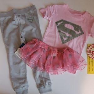 3 pc 18 months girls DC comics pajama set